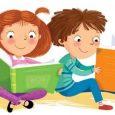 Disegno di bambini che leggono libri